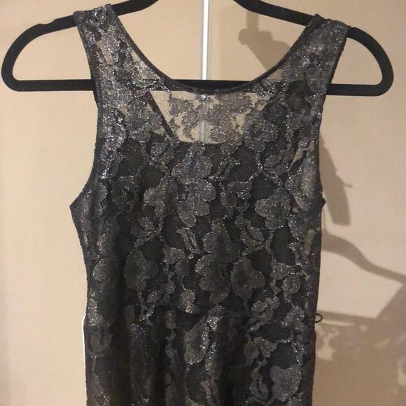Express Dresses & Skirts - Express Black shimmery skater dress- Dressy!